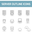 Server outline icons vector image vector image