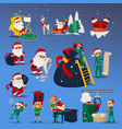 set christmas and new year vector image vector image