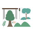 set of park icons vector image