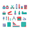 stationary set 3 color vector image vector image