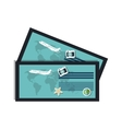 ticket airplane boarding pass vector image