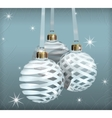 transparent christmas balls vector image