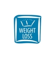 weight loss logo vector image vector image