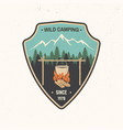 wild camping patch vector image vector image