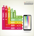 Infographic design background vector image