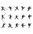 martial arts symbol people icons vector image