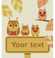 owl with sign vector image