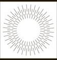 sun rays hand drawn vector image