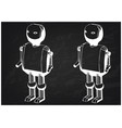 3d model of the robot on a black vector image vector image