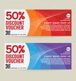50 Percen Discount Voucher Modern Template Design vector image