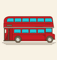 a of a red london bus vector image