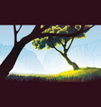 background of field with trees vector image vector image