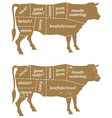 Barbecue Cow Design Element vector image vector image