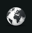 black earth globe world map design vector image vector image