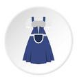 blue bavarian dress icon circle vector image vector image