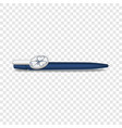 blue pen icon realistic style vector image vector image