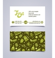 business card design template vector image vector image