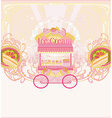 candy store - abstract retro card vector image vector image
