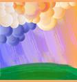 cartoon style grunge landscape vector image vector image
