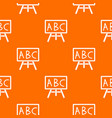 chalkboard with the leters abc pattern seamless vector image vector image
