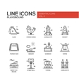 Children playground line design icons set vector image vector image