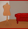 Clothing Mannequin vector image