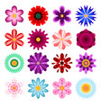 collection flowers icons vector image