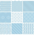 collection seamless backgrounds with lines vector image vector image