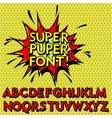 Cool Pop Art Font Alphabet vector image