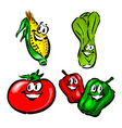 corn leak tomato peppers vector image vector image