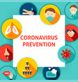 coronavirus prevention template vector image vector image