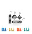 cyber monday sale tag icon on white background vector image vector image