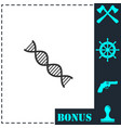 dna icon flat vector image vector image