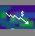 dollar money fall down symbol with blur vector image vector image