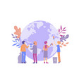 earth clean small people vector image