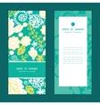emerald flowerals vertical frame pattern vector image vector image