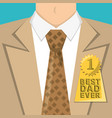 fathers day man with suit shirt and tie vector image vector image