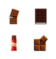 flat icon bitter set of cocoa sweet dessert and vector image vector image