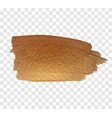gold paint brush texture vector image vector image
