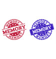 grunge scratched memory stamp seals vector image