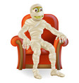 halloween mummy in chair vector image vector image