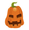 halloween orange pumpkin icon autumn seasonal vector image vector image