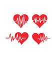 heart pulse icon graphic design template vector image vector image