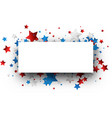 independence day background with stars vector image vector image