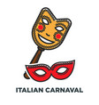 italian carnaval promo poster with elegant festive vector image
