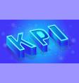 kpi service 3d isometric banner template vector image