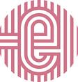 letter line e alphabet design vector image vector image