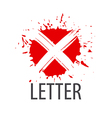 logo letter X in the form of blots vector image vector image