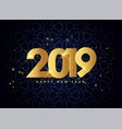 lovely 2019 golden sparkles background vector image vector image
