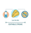 low fat diet weight loss concept icon vegetarian vector image vector image
